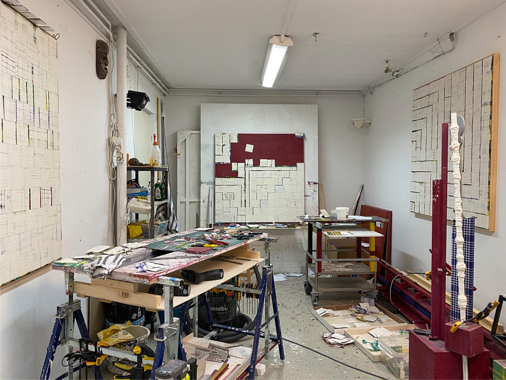 Remy Jungerman's studio view in Amsterdam.