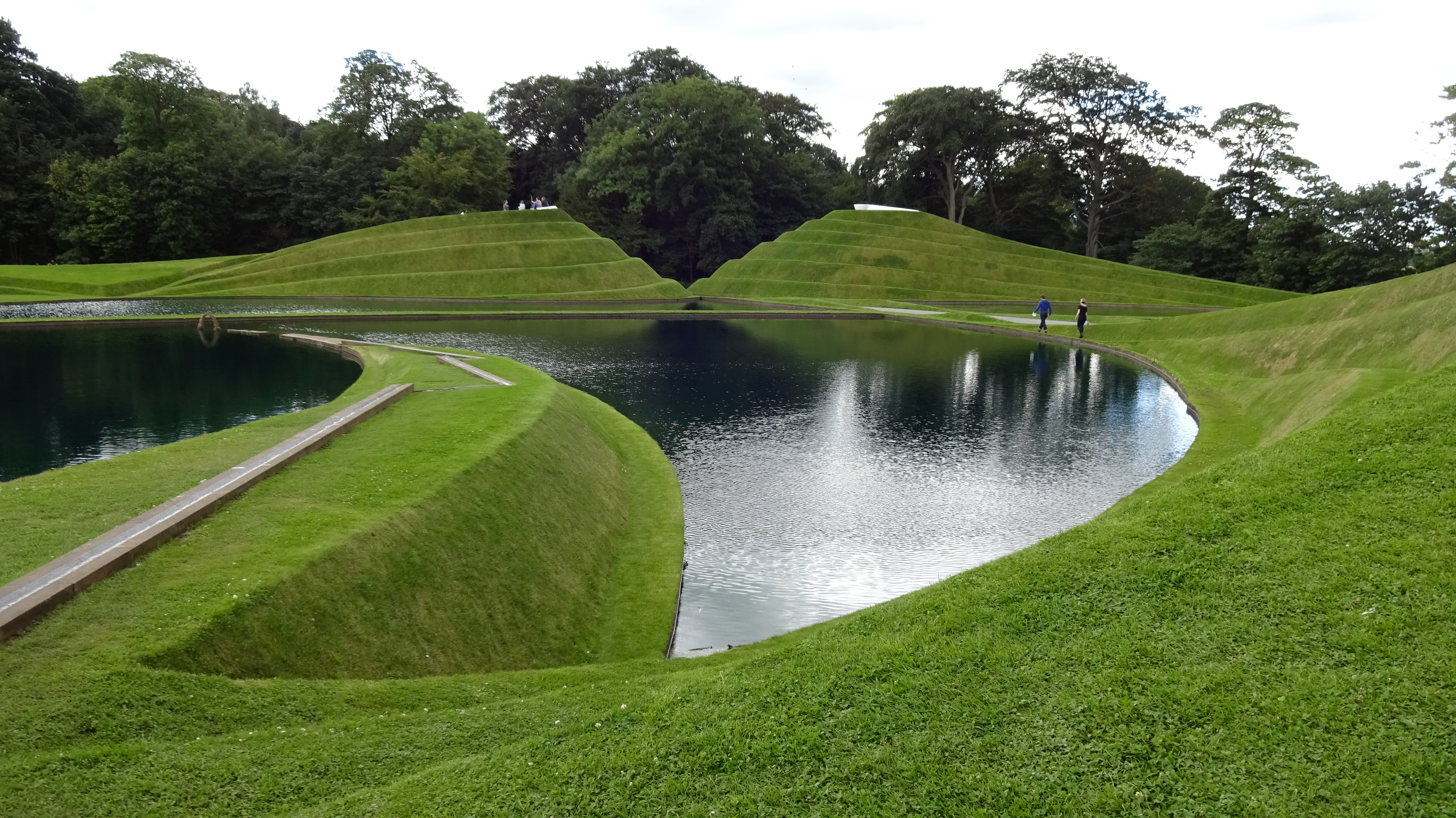 Charles Jencks' Life Mounds is a feature at Jupiter Artland.