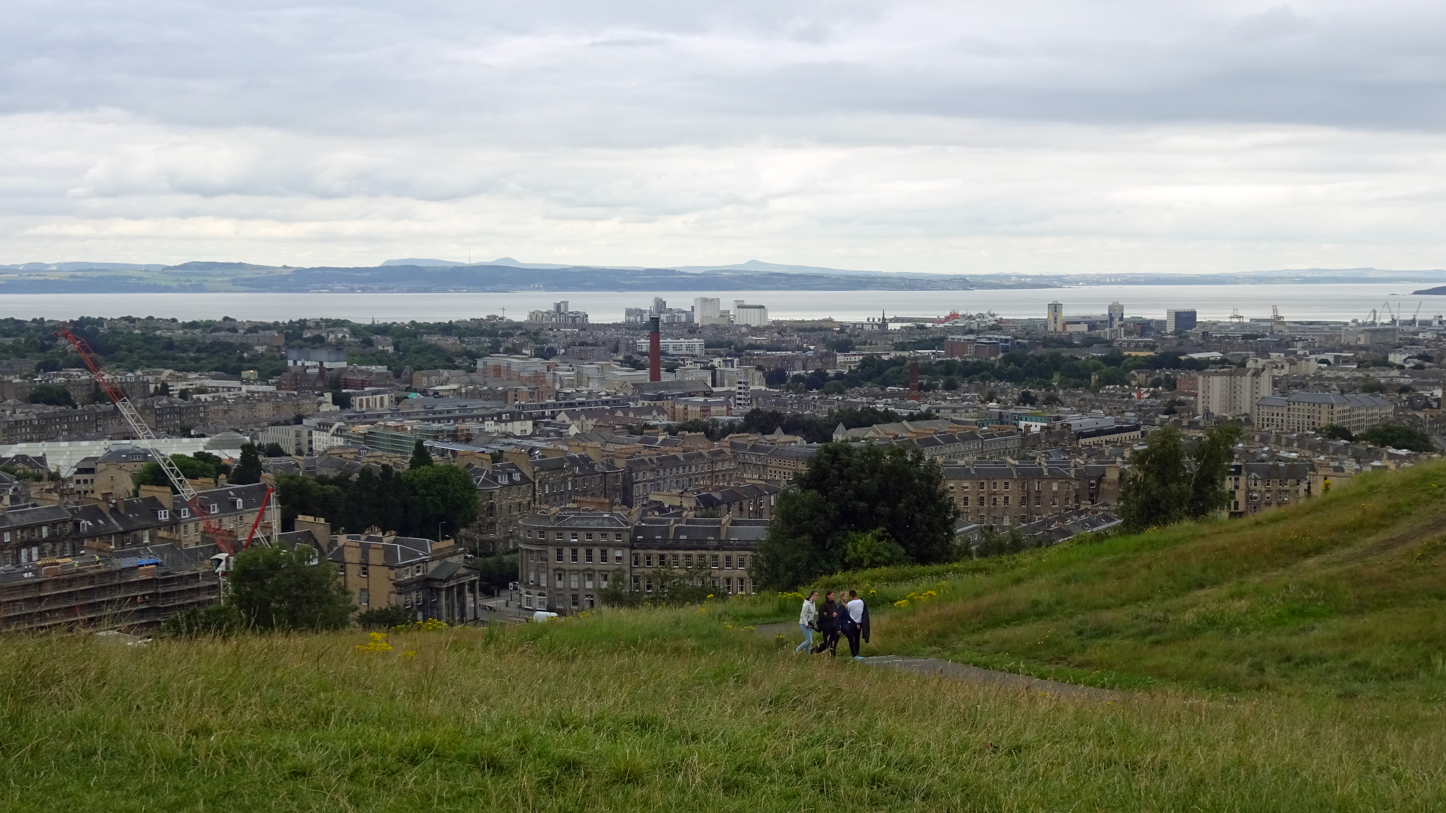from Calton Hill, Edinburgh.